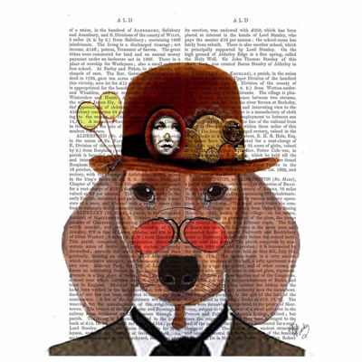 Distinguished dog Canvas Wall Art