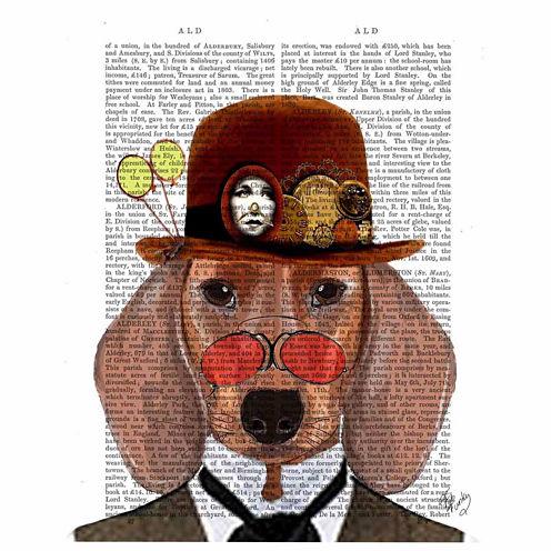 Distinguished dog Canvas Wall Art