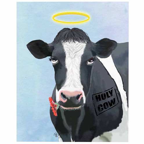 Holy cow Canvas Wall Art
