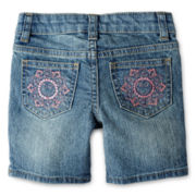 Arizona Denim Bermuda Shorts - Girls 12m-6y