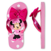 Disney Pink Minnie Mouse Flip Flops - Girls
