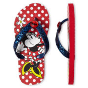 Disney Red Minnie Mouse Flip Flops - Girls