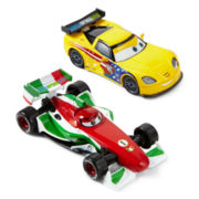 Disney Collection Cars Jeff Corvette and Francesco Bernoulli Toy Cars