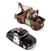 Disney Cars Mater and Sheriff Toy Cars