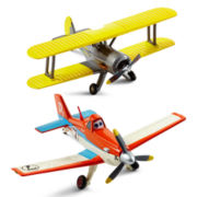 Disney Planes Dusty Crophopper and Leadbottom Toy Planes