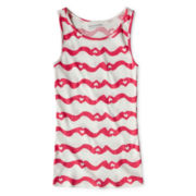 Arizona Heart Ribbed Tank Top - Girls 6-16 and Plus