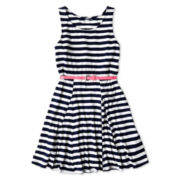 Arizona Belted Sleeveless Skater Dress - Girls 6-16