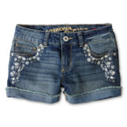 Arizona Embroidered Denim Shorties - Girls 6-16 and Plus