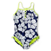 Breaking Waves Poppy Field One-Piece Swimsuit - Girls 6-16 and Plus
