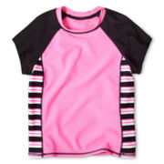 Breaking Waves Striped Rashguard – Girls 6-16