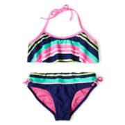 Breaking Waves Sea Side Stripes 2-pc. Swimsuit - Girls 6-16