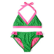 Breaking Waves Anchors 2-pc. Swimsuit - Girls 6-16