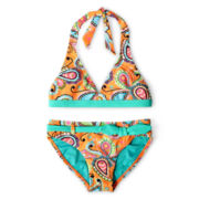 Breaking Waves Paisley Paradise 2- pc. Swimsuit - Girls 6-16