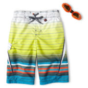 Zero Xposur® Aqua Dune Stripe Swim Trunks - Boys 6-18