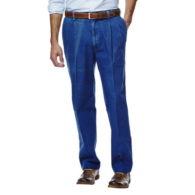 jcpenney.com | Haggar® Work to Weekend® Classic-Fit Pleated Denim Pants