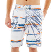 Speedo® Palm Stripe Swim Trunks