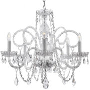 Gallery Venetian-Style 5-Light All-Crystal Chandelier