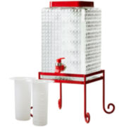 Glass Beverage Dispenser with Stand