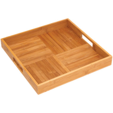 jcpenney.com | Bamboo Square Ribbed Serving Tray