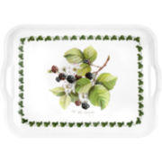 Blackberry Motif Melamine Rectangular Serving Tray