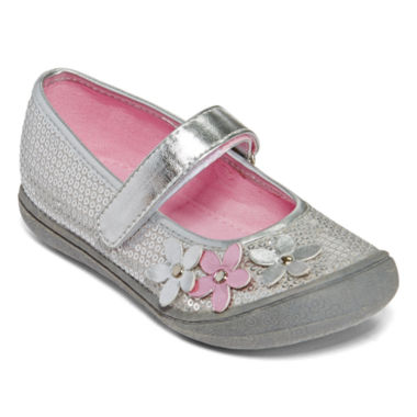 jcpenney.com | Okie Dokie® Blaire Girls Sequin and Flower Mary Janes - Toddler