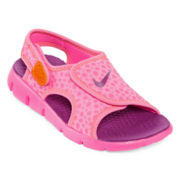 Nike® Sunray Adjustable Girls Sandals - Little Kids