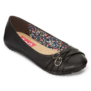 jcpenney.com | Pop Nelly Double-Buckle Ballet Flats in Wide Width