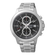 Seiko® Mens Stainless Steel Chronograph Watch SKS445