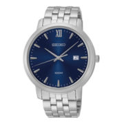Seiko® Mens Stainless Steel Watch SUR117