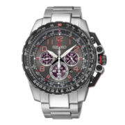 Seiko® Prospex Aviator Mens Stainless Steel Solar Chronograph Watch SSC315