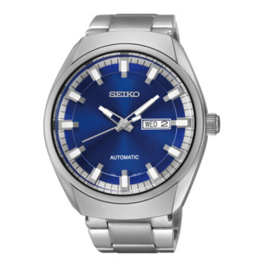 jcpenney.com | Seiko® Recraft Mens Stainless Steel Automatic Watch SNKN41