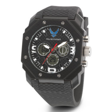 jcpenney.com | Wrist Armor® C28 Mens US Air Force Black Silicone Chronograph Watch