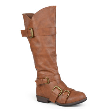 jcpenney.com | Journee Collection Rachel Buckle-Strap Knee-High Riding Boots