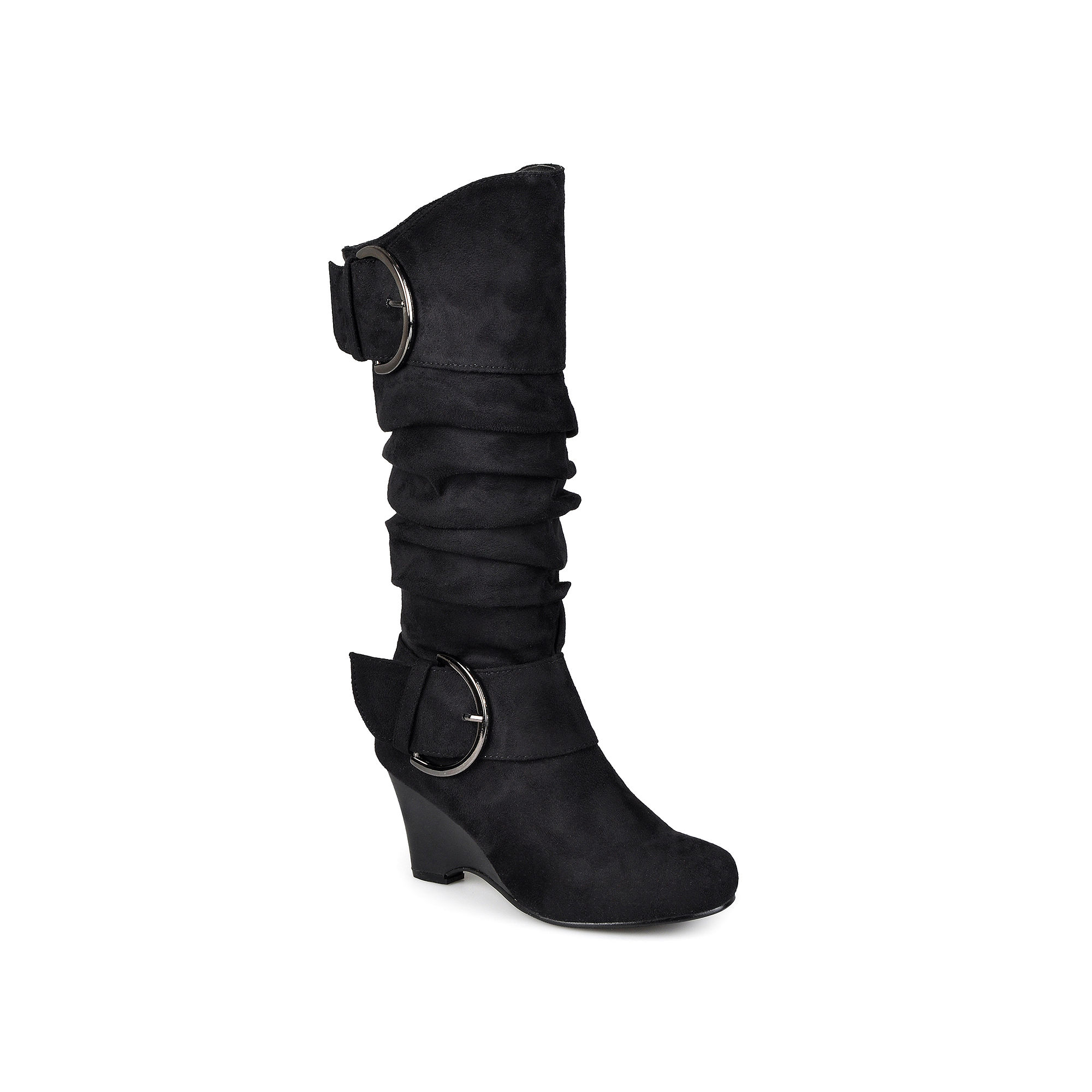 Journee Collection Irene Wedge Slouch Boots - Wide Calf plus size,  plus size fashion plus size appare