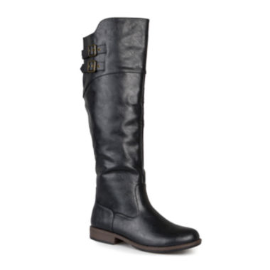 jcpenney.com | Journee Collection Tori Double-Buckle Knee-High Riding Boots