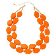Mixit™ Orange Bead 2-Row Nugget Necklace
