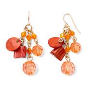 Mixit™ Orange Bead Cluster Earrings