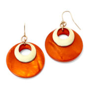 Mixit™ Orange Shell Orbital Drop Earrings