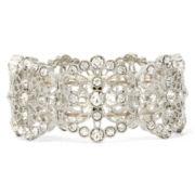 Liz Claiborne® Crystal Milgrain Stretch Bracelet