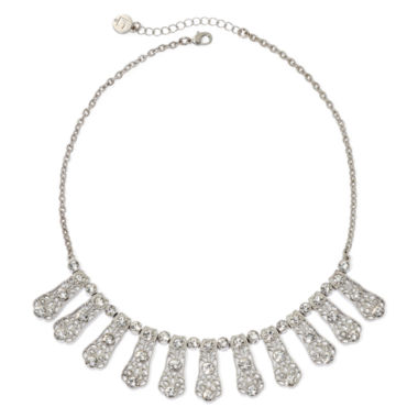 jcpenney.com | Liz Claiborne® Crystal Milgrain Shower Necklace