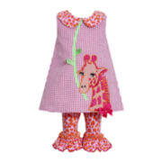 Bonnie Jean® 2-pc. Sleeveless Seersucker Dress and Leggings Set - Girls 3m-24m