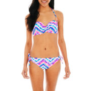 Arizona Underwire Bandeau Swim Top or Keyhole Hipster Bottoms - Juniors