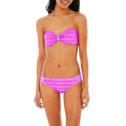 Arizona Crochet Bandeau Swim Top or Hipster Bottoms - Juniors