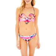 Arizona Flounce Bandeau Swim Top or Hipster Bottoms - Juniors