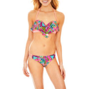Arizona Print Bandeau Swim Top or Side-Strap Hipster Bottoms - Juniors
