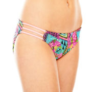 Arizona Print Side-Strap Hipster Swim Bottoms - Juniors