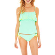 Arizona Tankini Swim Top or Sweet Pea Hipster Bottoms - Juniors