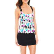 adidas® Racerback Tankini Swim Top or Swim Skirt