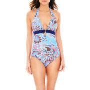 Liz Claiborne® Maillot 1-Piece Swimsuit