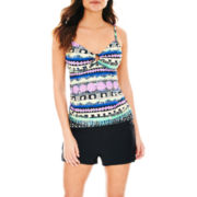 St. John's Bay® Ring-Front Tankini Swim Top or Boyshort Bottoms